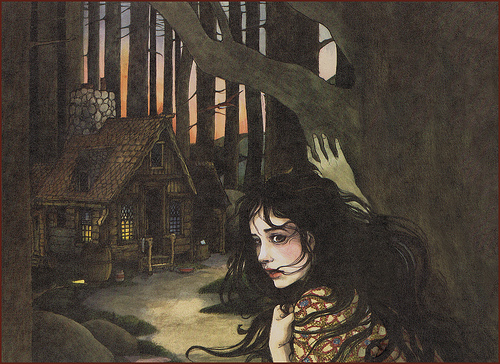 An illustration from Trina Schart Hyman's Snow White.