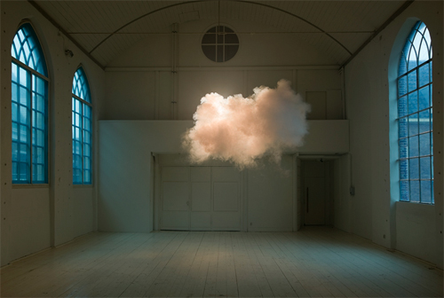 Cloud in a Room, by Berndnaut Smilde image from http://alfalfastudio.com/a-cloud-inside-your-room-by-berndnaut-smilde/
