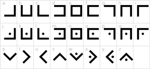 From http://font.downloadatoz.com/font,43058,cypher-pig-pen.html